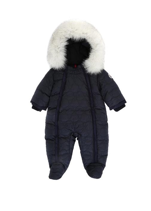 Roland Siyah Kapüşonlu Kız Bebek Puff Kayak Tulumu