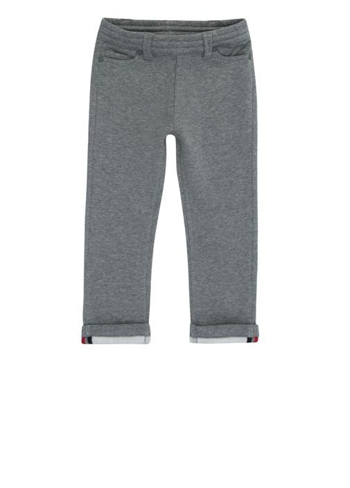 Gri Melanj Logolu Erkek Çocuk Pantolon