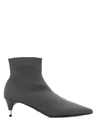 Prada Kadın Gri Topuklu Çorap Formlu Bot 37 EU