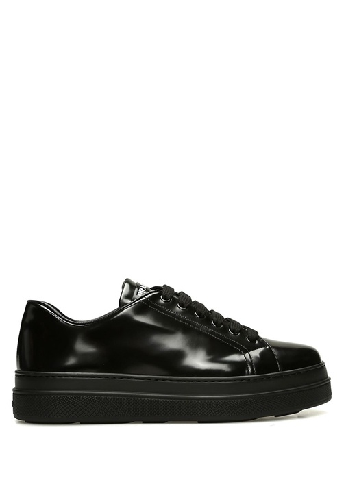 Siyah Kadın Rugan Sneaker