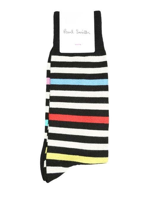 Siyah Çizgili Erkek Çorap