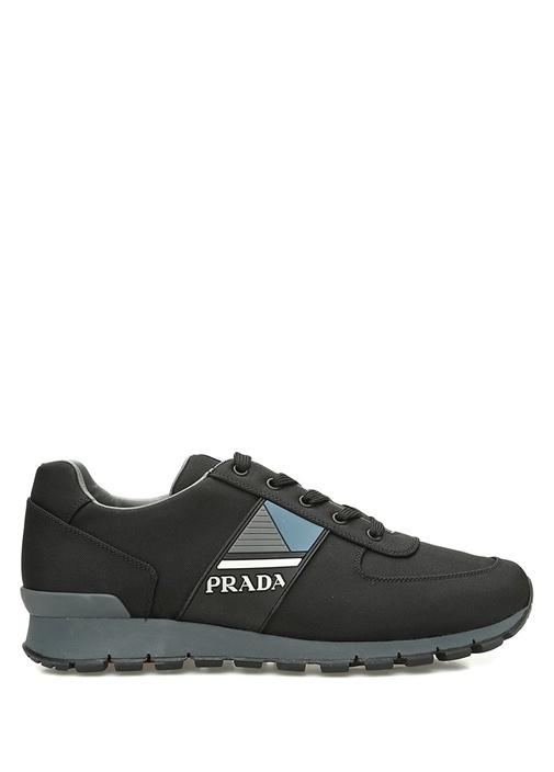 Prada Sport Siyah ERKEK  Siyah Gri Logolu Erkek Sneaker 520615 Beymen