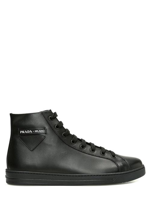 Prada Sport Siyah ERKEK  Siyah Erkek Bilekli Deri Sneaker 520638 Beymen