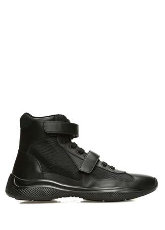 Prada Sport Erkek Siyah File Dokulu Sneaker 7 UK