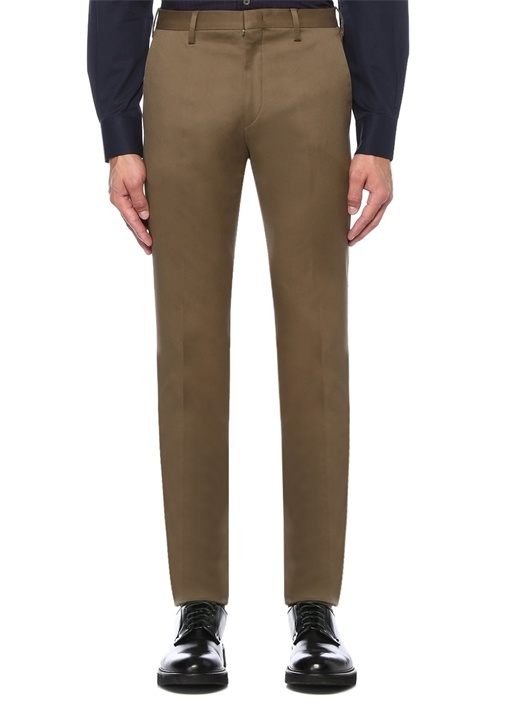 Formal Fit Haki Normal Bel Kanvas Pantolon
