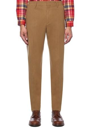 Kamel Normal Bel Dar Paça Yün Pantolon