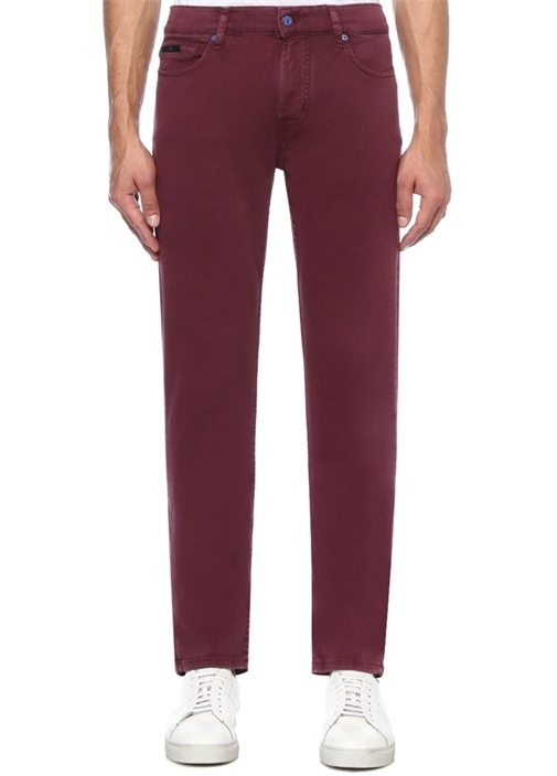 Ronnie Skinny Fit Bordo Jean Pantolon