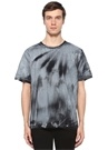 Siyah Beyaz Degrade Baskılı T-shirt