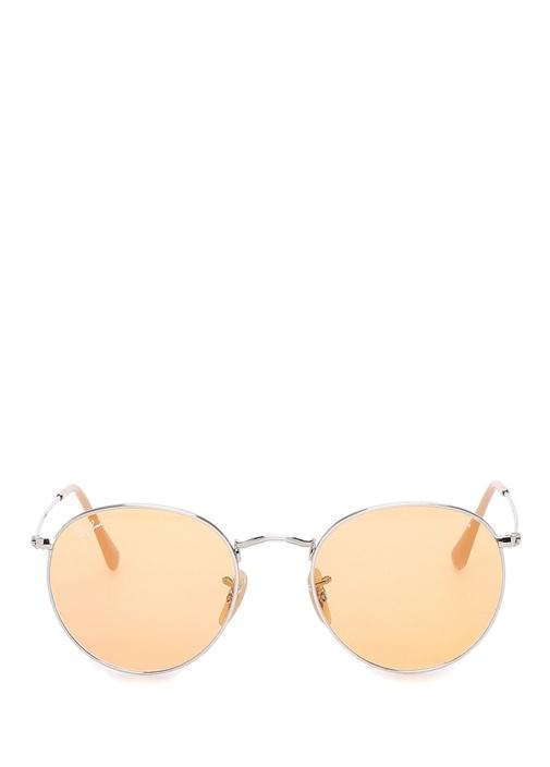 Round Metal Sarı Erkek Güneş Gözlüğü