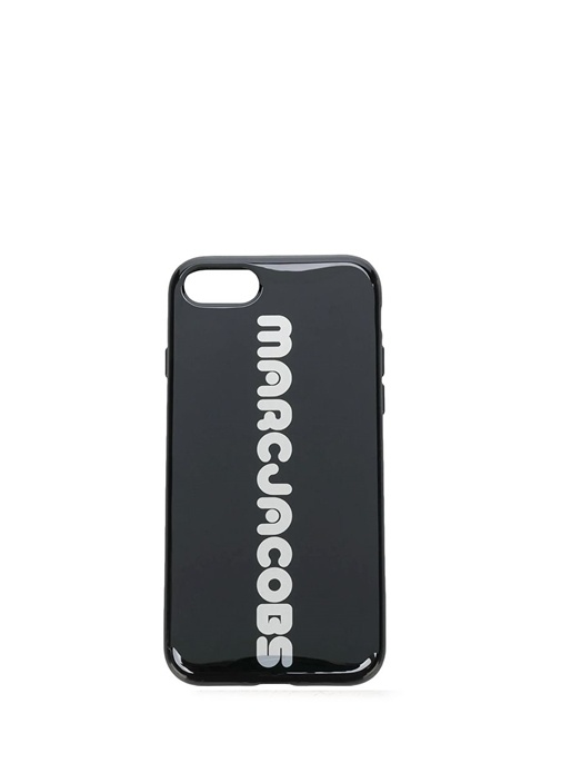 Siyah Logolu Kadın iPhone 8 Telefon Kılıfı