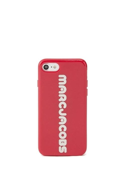 Kırmızı Logolu Kadın iPhone 8 Telefon Kılıfı