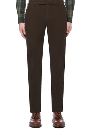 Slim Fit Yeşil Normal Bel Kanvas Pantolon