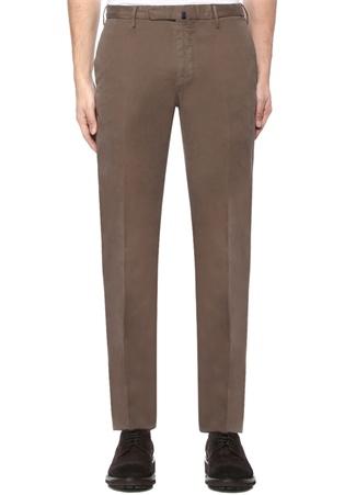 Erkek Slim Fit Gri Normal Bel Kanvas Pantolon Bej 54 IT