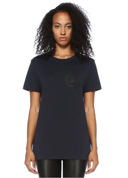 Lacivert Logo Baskılı T-shirt