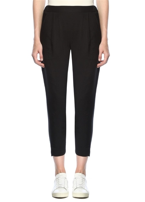 Obel Siyah Yüksek Bel Dar Paça Pantolon