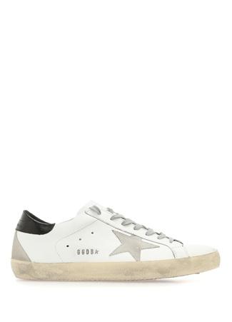 Superstar Beyaz Eskitmeli Erkek Deri Sneaker