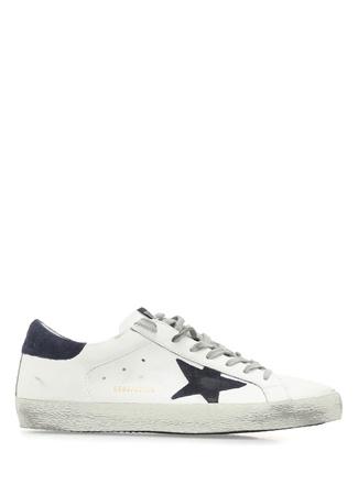 Super Star Beyaz Yıldız Patchli Erkek Deri Sneaker