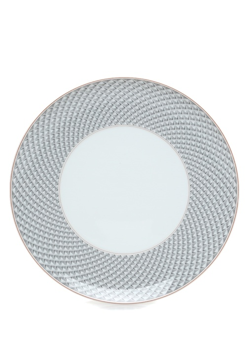 Maya Mikro Desenli Porselen Tabak