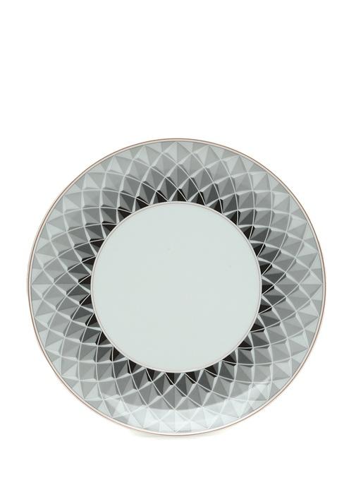 Maya Geometrik Desenli Porselen Tabak