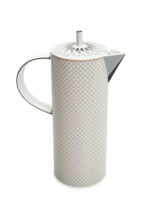Maya Mikro Desenli Porselen Kahve Demliği