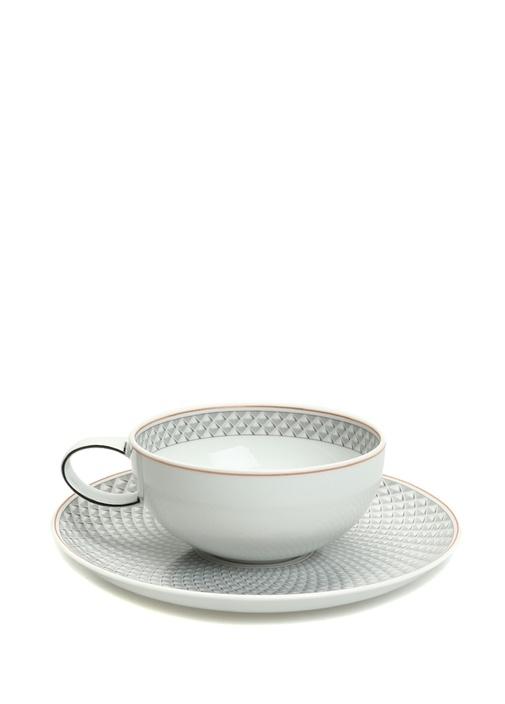 Maya Çini Baskılı Desenli Porselen Çay Fincanı