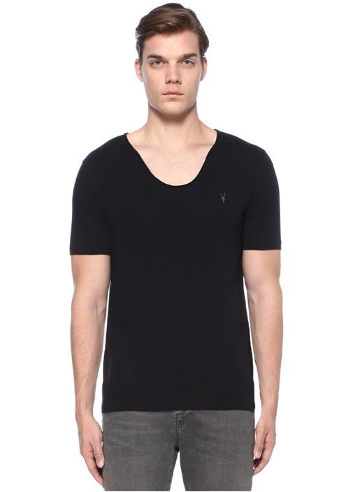 Tonic Scoop V Yaka Siyah Basic T-shirt