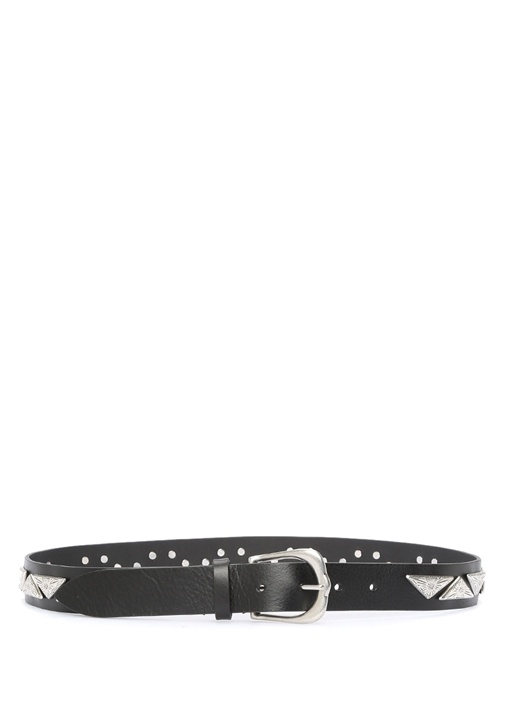 Nyzo Siyah Plakalı Kadın Deri Kemer