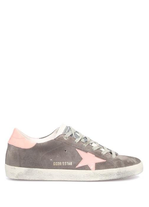 Superstar Gri Yıldız Patchli Kadın DeriSneaker