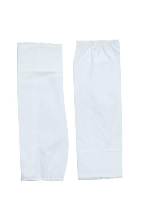 Beyaz Fisto Detaylı Kadın Gömlek Manşeti