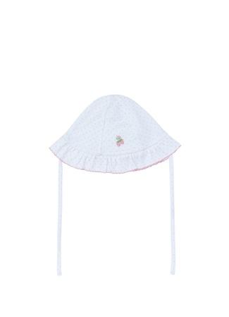 Kissy Kız Bebek Beyaz Puantiyeli Nakış Detaylı Şapka Pembe S Ürün Resmi