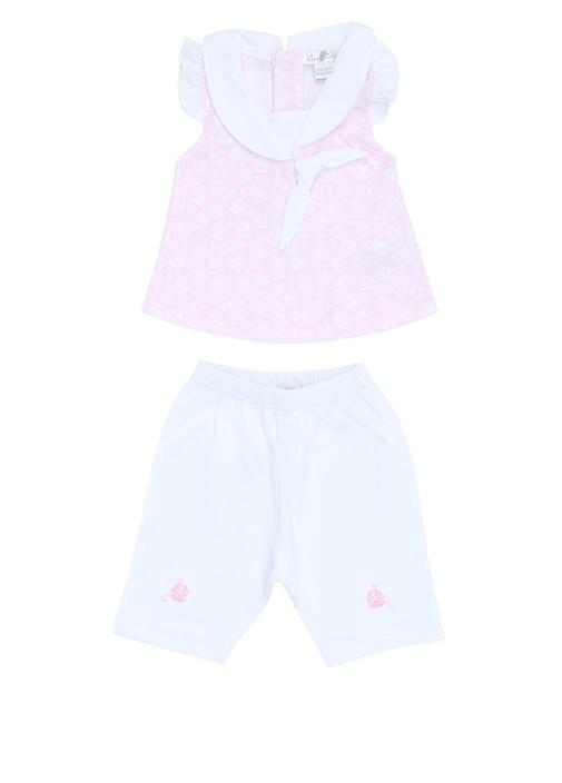 Pembe Yelkenli Kız Bebek Pantolon Takımı