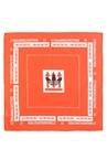 Kırmızı Yazı Baskılı Logolu Erkek Bandana