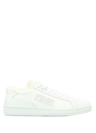 Kenzo Erkek Beyaz Peluş Detaylı Deri Sneaker 4 EU