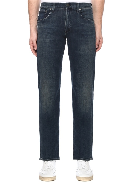 Sid Regular Straight Fit Lacivert Jean Pantolon