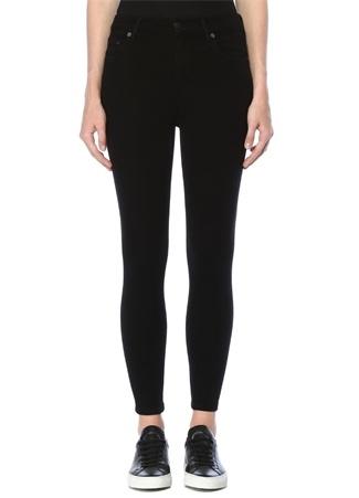 Citizens Of Humanity Kadın Rocket Crop Siyah Yüksek Bel Skinny Jean Pantolon 25 IT
