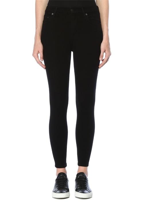Rocket Crop Siyah Yüksek Bel Skinny Jean Pantolon