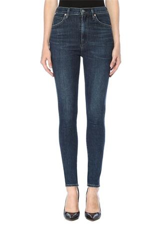 Citizens Of Humanity Kadın Chrissy Yüksek Bel Skinny Jean Pantolon Mavi 29 IT