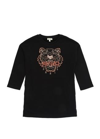 Kenzo Kız Çocuk Siyah Logolu Nakışlı Elbise 6 Yaş EU