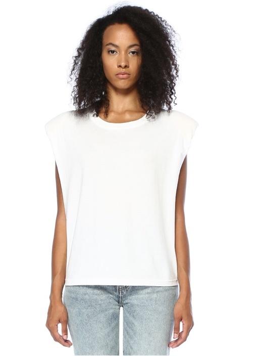 Power Beyaz Vatkalı Sırtı Logolu T-shirt
