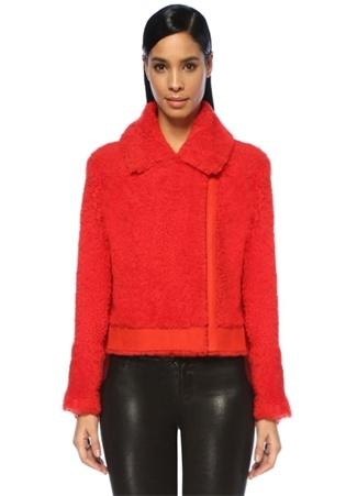 Designers Remix Kadın Candy Kırmızı Peluş Yün Ceket 36 IT