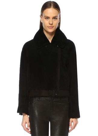 Designers Remix Kadın Candy Siyah Peluş Yün Ceket 38 IT