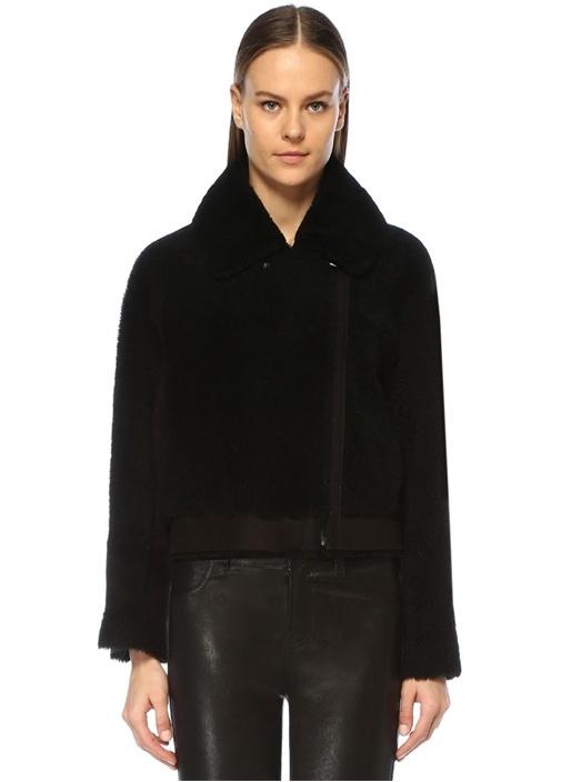 Candy Siyah Peluş Yün Ceket