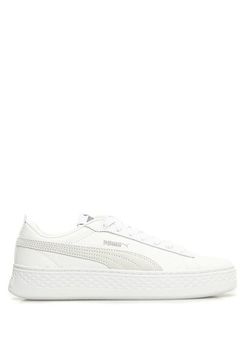 Smash Platform Beyaz Kadın Deri Sneaker