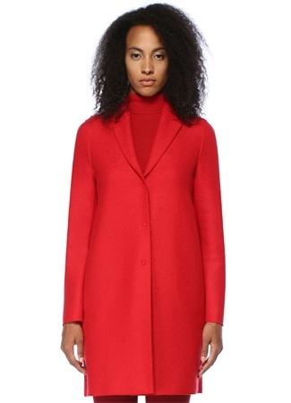 Harris Wharf London Kadın Kırmızı Kelebek Yaka Yün Kaban 42 IT female