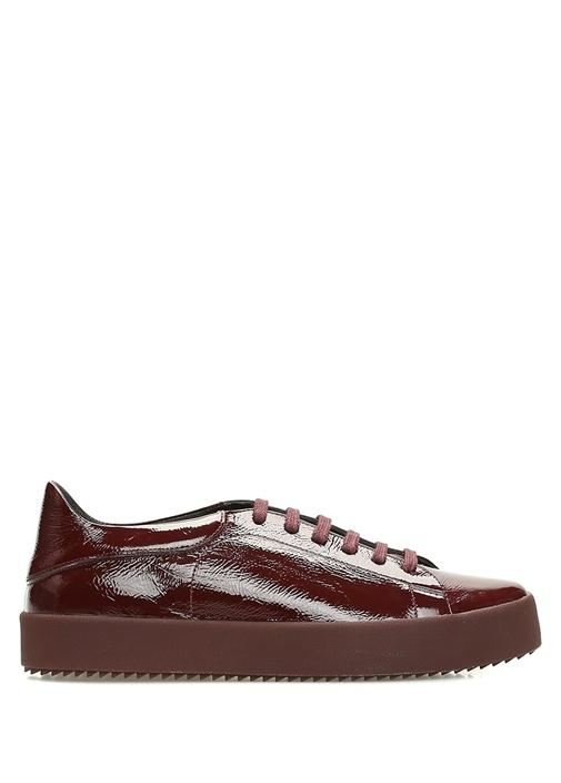 Bordo Kadın Rugan Sneaker