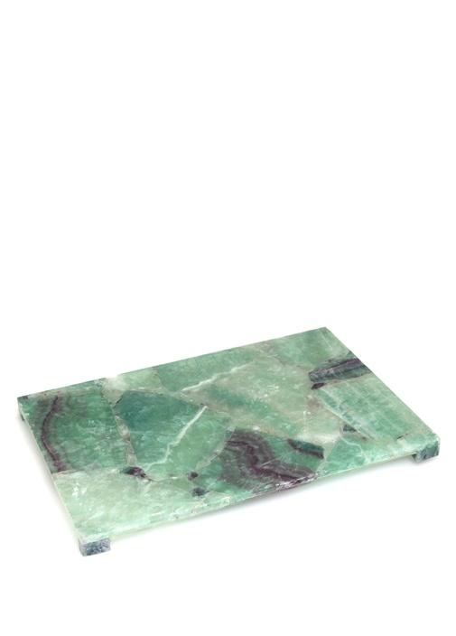 Taj Large Yeşil Mermer Desenli Tepsi