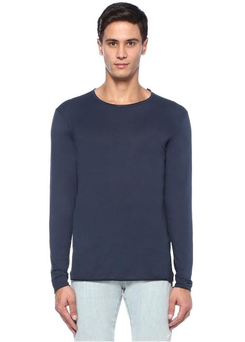 Bysapick Lacivert Uzun Kollu Basic T-shirt