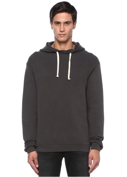 Kinibay Antrasit Kapüşonlu Sweatshirt