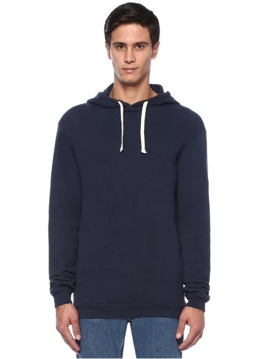 Kinibay Lacivert Kapüşonlu Sweatshirt