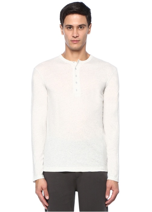 Decatur Gri Melanj Uzun Kollu T-shirt